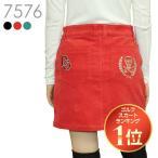 スカル刺繍コーデュロイストレッチスカート M/L/LL/3L 大きいサイズ レディースゴルフウェア