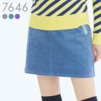 刺繍入ストレッチコーデュロイスカート M/L/LL/3L 大きいサイズ レディースゴルフウェア