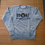 BUZZ RICKSON'S バズリクソンズ 長袖スウェット SET-IN CREW SWEAT『 U.S.AIR FORCE 』BR66800-113/H.GRAY