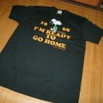 BUZZ RICKSON'S バズリクソンズ PEANUTS スヌーピー 半袖Tシャツ SNOOPYSNOOPY『I'M READY TO GO HOME』BR77544-119/BLACK