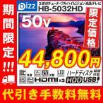 ショッピング液晶テレビ 液晶テレビ 50インチ HDMI 3系統 ダブルチューナー 裏番組録画対応可能 3波 フルハイビジョン 壁掛けテレビ bizz HB-5032HD