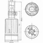 アメリカン電機 防水形コードコネクタボディ 引掛形 60A 接地形3P 250V 黒 4624RW