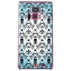 REGZA Phone T-01D/Disney Mobile F-08D カバー/ケース (百合の紋章 スカル(小)/ブルー)