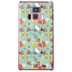 REGZA Phone T-01D/Disney Mobile F-08D カバー/ケース (ハートとブーケ/ブルー)
