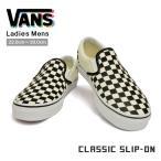 バンズ クラシック スリッポン ブラック アンド ホワイト チェッカー/ホワイト VANS CLASSIC SLIP-ON BLACK AND WHITE CHECKER/WHITE EYEBWW