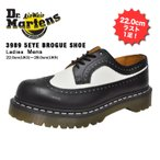 10%�����ݥ�ͭ �ɥ������ޡ����� ��� ��ǥ����� 5���� �֥��� �֥�å�/�ۥ磻�� Dr.Martens 5EYE 3989 BROGUE SHOE BEX 34 F BLACK/WHITE 10458001