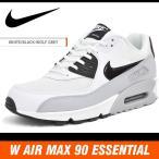 ナイキ ウィメンズ エア マックス 90 エッセンシャル ホワイト/ブラック/グレー NIKE WMNS AIR MAX 90 ESSENTIAL WHITE/BLACK-WOLF GREY 616730-111