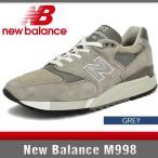ニューバランス スニーカー メンズ M998 Dワイズ グレー New Balance M998 GREY MADE IN USA
