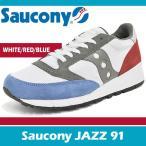 サッカニー スニーカー メンズ ジャズ 91 ホワイト/ブルー/レッド Saucony JAZZ 91 WHITE/BLUE/RED S70216-1