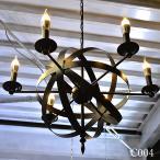 シャンデリア ペンダントライト 照明 吊下げ LED 天井照明 6灯 かわいい おしゃれ インダストリアル ミッドセンチュリー シンプル キャンドル C004