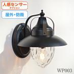 屋外用照明 レトロ 黒傘付きブラケットライト 外灯 -型番WP003-