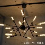 こんなデザイン見たことない16灯の LED シャンデリア ペンダント ライト 天井 照明 シーリング 店舗 吊り下げ 照明 かわいい おしゃれ 豪華 C001-MIDDLE
