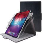 エレコム TB-A20PL360BK iPad Pro 12.9インチ 2020年モデル フラップケース ソフトレザー 360度回転 ブラック