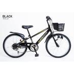 21Technology 4562320213202 22インチ子供マウンテンバイク(6段変速付き) (KD226-ブラック)