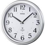 【納期目安:1週間】MAG W-649-SM-Z 電波掛時計「アストル」(銀メタリック) (W649SMZ)