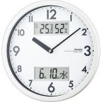 MAG W-631-WH 温湿度/カレンダー機能付掛時計「ダブルメジャー」(ホワイト) (W631WH)