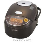 象印 NP-ZF10-TD 黒まる厚釜 圧力IH炊飯ジャー 5.5合 (NPZF10TD)