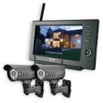 ワイヤレス 防犯カメラ 監視カメラ 2台セット カメラモニターセット CMS-7110&C71 /ELPA 朝日電器 /即納/送料無料