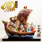「九谷焼」 七福神宝船 盛 7号 ( 宝船 定年 退職祝い 昇進 陶器 置物 七福神 恵比寿 大黒 幸運 インテリア )