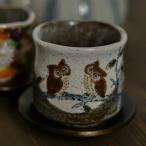 「九谷焼」 湯呑 ふくろう ( 湯呑み クリスマス お正月 陶器 湯のみ ゆのみ 湯飲み セット プレゼント 和食器 )