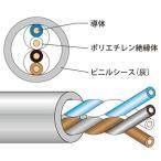 JAPPY 電子ボタン電話用ケーブル 灰 J-FCT0.65mm×2P (200m)