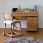 ショッピング学習机 学習机 勉強机 学習デスク キッズ 机 つくえ 木製 子供 おすすめ シンプル 送料無料 3点セット  学習椅子 ワゴン エクリュ105ココロチェア(IS)