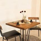 [TO]Kelt(ケルト)シリーズのカフェテーブル&チェア(2脚)。【送料無料】古木風パイン無垢材をオイルで仕上げた味のある風合い。木目が美しく、レトロな味わい