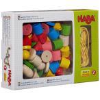 HABA ハバ カラービーズ・6シェイプ HA2155 2歳 3歳 4歳 おもちゃ ひも通し 女の子 子供 木のおもちゃ 木製 男の子 知育玩具 子ども 紐とおし
