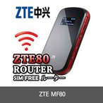 ZTE MF80 Pocket WIFI ルーター シム SIM フリー Sim Free