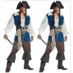 大人用 男性用 メンズ用 Men's ハロウィン 海賊 ジャック船長 パイレーツオブカリビアンに変身 GGM0093♪男性用 ハロウィン衣装 仮装 ハロウィーン用品 仮装
