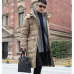 ダウンジャケット ロング ダウンコート フード付き ベンチコート メンズ アウター 大きいサイズ