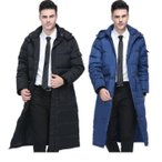 ダウンジャケット 超ロング メンズ ダウンコート フード付き ベンチコート ショートブルゾン コート アウター