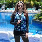 フィットネス水着 レディース セパレート フィットネス 水着 大きいサイズ 半袖 セパレート水着 女性用 体型カバー 競泳水着 かわいい スイムウェア 2XL-5XL