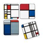 MoMA モンドリアン コースター(4枚セット)