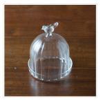 ショッピング小物 送料無料 Marlene ガラスドーム 耐熱ガラス 直径7 H9cm