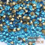 クリスタルガラスVカットストーン チャトン 埋め込み型 アクアマリン