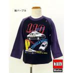 10%OFFセール(メール便可160円)トミカ ベビー服 ラグラン 長袖Tシャツ パトカー/警察車両