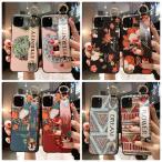 iPhone12ProMAX iPhone11 iPhone12mini iPhoneケース 落下防止 ハンドベルト 花柄 浮き彫り iPhoneカバー スマホカバー 携帯カバー 新作