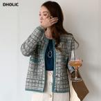 カーディガン 羽織物 長袖 ツイード 高級感 大人 上品 春 秋 韓国 ファッション
