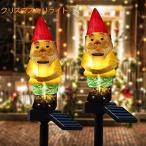 クリスマス飾りライト サンタクロース モチーフライト ソーラー充電 防水 屋外 置物ライト クリスマス サン