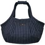 【抗菌防臭仕様】DB Style キャリーバッグ ツイストギンガム ネイビーxグレー サイズ:ONE SIZE(M)の画像