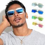 全4色 サングラス メンズ 紫外線カット 7JEWELRY ティアドロップ サングラス イエロー ピンク シルバー ブルー ミラー レンズの画像