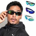 全2色 スポーツ サングラス メンズ 紫外線カット 7JEWELRY サングラス スモーク オレンジ イエロー ブルー レンズの画像