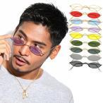 人気 メンズ ブランド 7JEWELRY オーバル サングラス ブラック スモーク レッド パープル クリア レンズ UVカットの画像