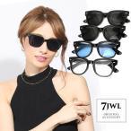 人気 メンズ ブランド 7JEWELRY ウェリントン サングラス ブラック スモーク ブルー クリア レンズ UVカットの画像