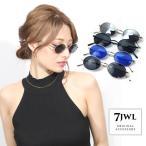 人気 メンズ ブランド 7JEWELRY オーバル サングラス スモーク ブルー ブラック シルバー ミラー レンズ UVカットの画像