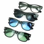 人気 メンズ ブランド 7JEWELRY ウェリントン サングラス ライト グリーン ブルー スモーク クリア レンズ 紫外線カット UVカットの画像