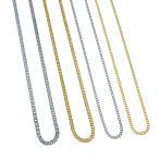 ネックレス メンズ ブランド シンプル ゴールド シルバー SBG by 7JEWELRY ステンレス 喜平 チェーン ネックレス 幅2.0mm,2.5mm 長さ50cm,60cm