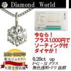 ダイヤモンド ネックレス 0.2ct 一粒 ダイヤネックレス プラチナ PT900 ゴールド K18 ピンクゴールド K18PG レディース カラーレス 品質保証書付 送料無料