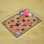 とっても可愛い蝶とビジューの姫盛りアクセサリートレイデコ♪鍵置きにも by Kanna